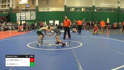 113 lbs Quarterfinal - Andrew Marchese, Washingtonville vs Stevo Poulin, Shenendehowa