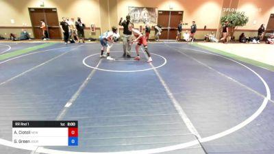 92 lbs Rr Rnd 1 - Anthony Ciotoli, New York vs Gregory Green, Journeymen Wrestling Club