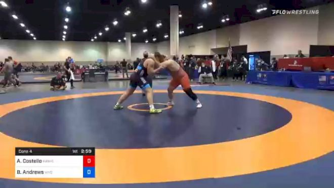 125 kg Consolation - Aaron Costello, Hawkeye Wrestling Club vs Brian Andrews, Wyoming Wrestling Reg Training Ctr