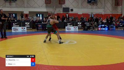 63 kg Rr Rnd 1 - Colton Rasche, Marines vs Travis Rice, NYAC/IRTC