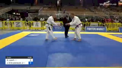 Brent Leach vs John D Grusemeyer Jr 2020 World Master IBJJF Jiu-Jitsu Championship