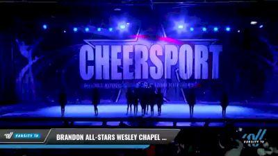 Brandon All-Stars Wesley Chapel - Midnight [2021 L3 Junior - Small - A Day 1] 2021 CHEERSPORT National Cheerleading Championship