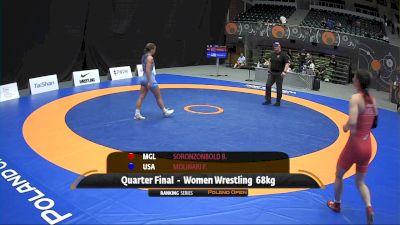 68kg Quarter-Final - Forrest Molinari, USA vs Battsetseg Soronzonbold, MGL