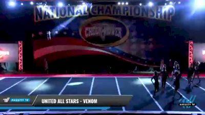United All Stars - Venom [2021 L4 Senior - D2 Day 1] 2021 ACP: Midwest World Bid National Championship