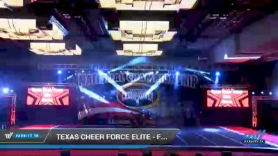 Texas Cheer Force Elite - Fierce [2021 L3 Junior - D2 - A Day 3] 2021 ACP Southern National Championship