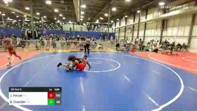 125 lbs Rr Rnd 3 - Jasper Harper, Illinois American Gladiators vs Brayden Chandler, The Funky Singlets