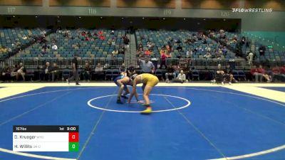 157 lbs Final - Dewey Krueger, Wyoming vs Hunter Willits, UN-Oregon State