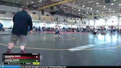 58 lbs Round 2 (4 Team) - Channing Smith, Tennessee vs Markee Gomez, Black Mambas Blue
