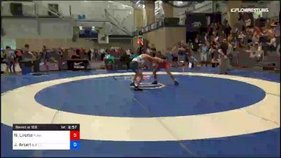 65 kg Round Of 128 - Nicholas Lirette, Sunkist Kids Wrestling Club vs John Arceri, Buffalo