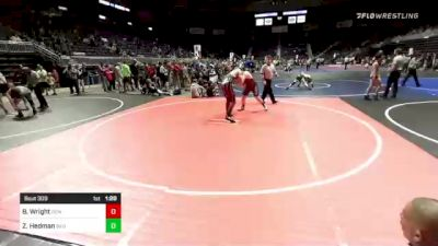 172 lbs Quarterfinal - Beau Wright, Gem City Grapplers vs Zachary Hedman, Bad Dogs