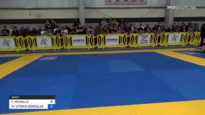 CHLOE MCNALLY vs MARIA VITORIA GONCALVES 2021 Pan IBJJF Jiu-Jitsu No-Gi Championship