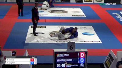Basel Fanous vs Matthew Leighton 2018 Abu Dhabi World Professional Jiu-Jitsu Championship