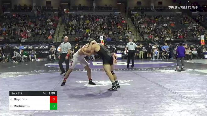197 lbs Consolation - Jake Boyd, Oklahoma vs Connor Corbin, Iowa