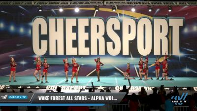 Wake Forest All Stars - Alpha Wolves [2021 L5 Senior - D2 Day 1] 2021 CHEERSPORT: Charlotte Grand Championship