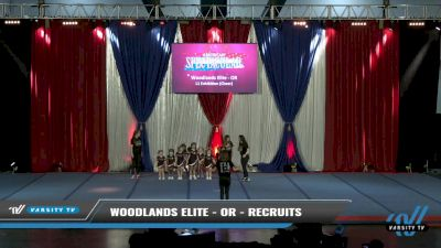Woodlands Elite - OR - Recruits [2021 L1 Exhibition (Cheer) Day 2] 2021 The American Spectacular DI & DII