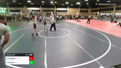 65 lbs Round Of 16 - Reza Khademi, Daniel Cormier Wr Ac vs Cade Ruckle, Gold Rush Wr Ac