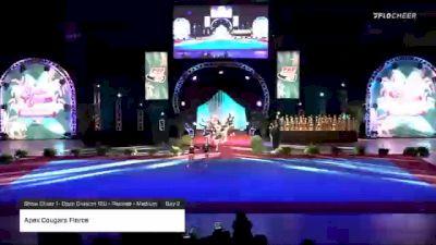Apex Cougars Fierce [2020 Show Cheer 1- Open Division 12U - Peewee - Medium Day 2] 2020 Pop Warner National Cheer & Dance Championship
