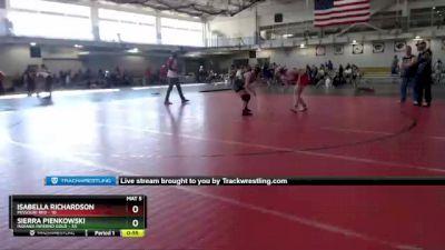 144 lbs Round 1 (4 Team) - Sierra Pienkowski, Indiana INFERNO GOLD vs Isabella Richardson, Missouri Red