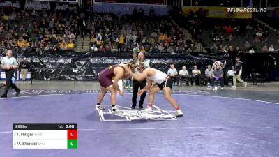 285 lbs Semifinal - Trent Hillger, Wisconsin vs Matt Stencel, Central Michigan