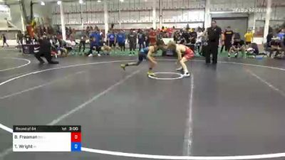 65 kg Prelims - Ben Freeman, Bulls Wrestling Club vs Timothy Wright, Indiana