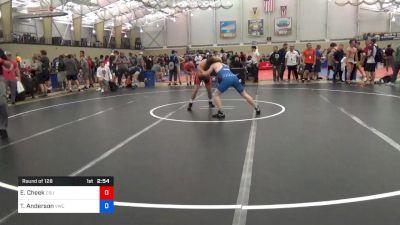70 kg Round Of 128 - Evan Cheek, Cleveland State University vs Trevor Anderson, Viking Wrestling Club