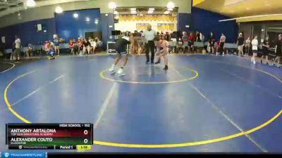152 lbs Champ. Round 2 - Alexander Couto, Gladiator vs Anthony Artalona, Top Gun Wrestling Academy