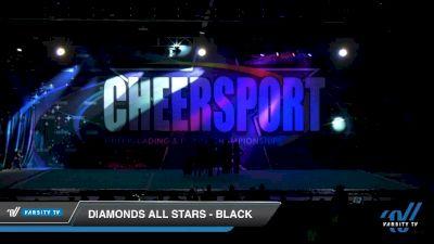 Diamonds All Stars - Black [2020 Senior XSmall Coed 6 Division B Day 2] 2020 CHEERSPORT National Cheerleading Championship