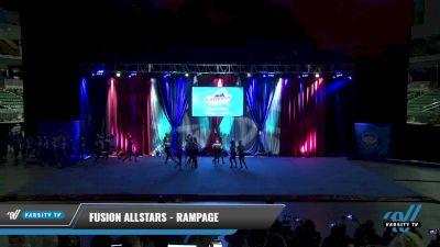 Fusion Allstars - Rampage [2021 L4.2 Senior - D2 - Medium Day 2] 2021 The American Gateway DI & DII