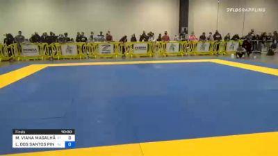 MATHEUS VIANA MAGALHÃES vs LUCAS DOS SANTOS PINHEIRO 2020 IBJJF Pan No-Gi Championship