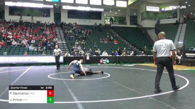 149 lbs Quarterfinal - Pj Ogunsanya, Army vs Jared Prince, Navy
