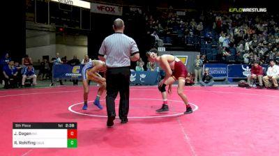 149 lbs 5th Place - Jarrett Degen, Iowa State vs Russell Rohlfing, CSU-Bakersfield