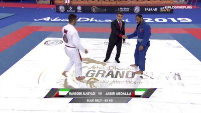 Mansoor Alneyadi vs Jabir Abdalla 2019 Abu Dhabi Grand Slam Abu Dhabi