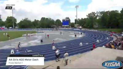 High School Girls' 400m Aa, Finals 1