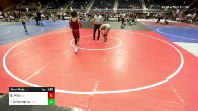 132 lbs Semifinal - Darly Mills, Sierra WC vs Terrell Kinlicheenie, Lobos