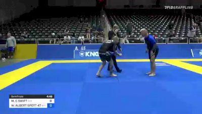 MICHAEL C SWIFT vs WILLIAM ALBERT SPOTT 4TH 2021 World IBJJF Jiu-Jitsu No-Gi Championship