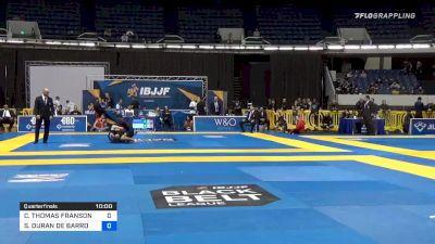 COLE THOMAS FRANSON vs SILVIO DURAN DE BARROS SARAIVA 2019 World IBJJF Jiu-Jitsu No-Gi Championship