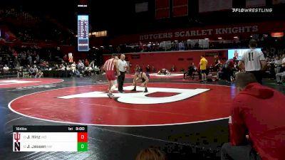 184 lbs Quarterfinal - Jake Hinz, Indiana vs Jack Jessen, Northwestern