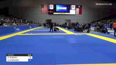 DANIEL RUBINOV vs HOMERO OYERVIDEZ 2021 World IBJJF Jiu-Jitsu No-Gi Championship