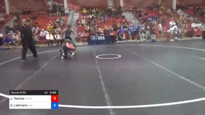 70 kg Prelims - Jacori Teemer, Sunkist Kids Wrestling Club vs Dalton Lakmann, Jackrabbit Wrestling Club