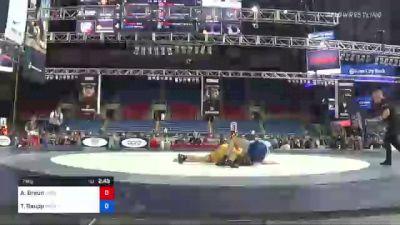 74 kg Rr Rnd 1 - Austin Braun, Minnesota vs Tony Raupp, Minot MatWrats Wrestling Club
