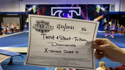 Twist & Shout - Tulsa - Diamonds [L6 Senior Coed - Xsmall] 2021 NCA All-Star Virtual National Championship