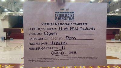 University of Minnesota-Duluth [Virtual Open Pom Finals] 2021 UCA & UDA College Cheerleading & Dance Team National Championship