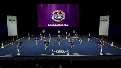 Spring Station Middle School [2021 Junior High Non Tumbling Finals] 2021 UCA National High School Cheerleading Championship