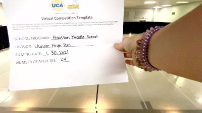 Houston Middle School [Junior High Pom] 2021 UDA South Spring Virtual Dance Challenge