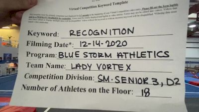 Blue Storm Athletics - Lady Vortex [Level 3 L3 Senior - D2] 2020 America's Best Virtual National Championship