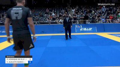 PEDRO HENRIQUE DE OLIVEIRA E SIL vs ENRIQUE AUGUSTO MARCH 2021 World IBJJF Jiu-Jitsu No-Gi Championship