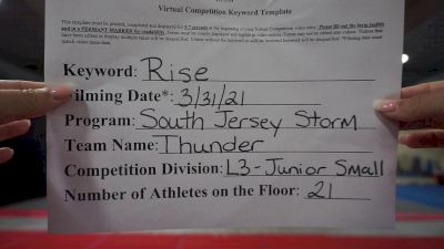 South Jersey Storm - Thunder [L3 Junior - Small] 2021 The Regional Summit Virtual Championships