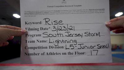 South Jersey Storm - Lightning [L5 Junior] 2021 The Regional Summit Virtual Championships