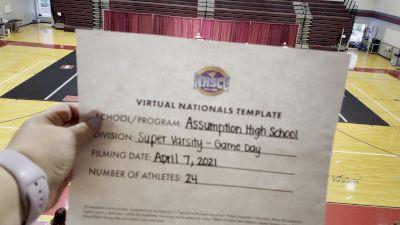 Assumption High School [Virtual Super Varsity - Game Day Semi Finals] 2021 UCA National High School Cheerleading Championship