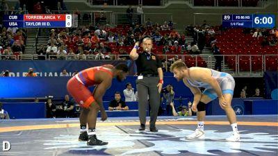 86kg Quarterfinal Y. TORREBLANCA  (CUB) v. David TAYLOR III (USA)